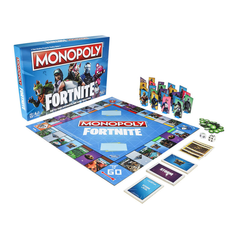 Hasbro Gaming Monopoly: Fortnite Edition Board Game - Bilingual Edition