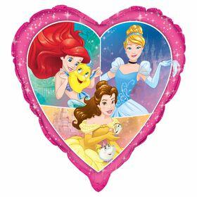 "Princess Giant Heart Shape Foil 29"""