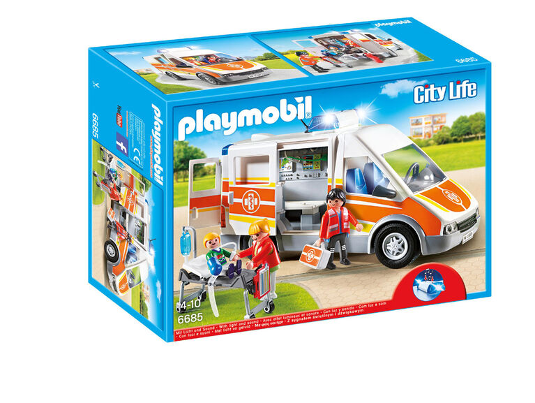 Playmobil - Ambulance with Lights and Sound (6685)