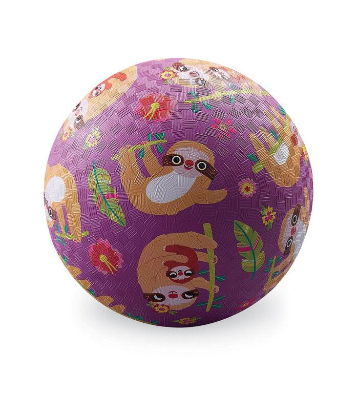 7 Inch Sloth Playground Ball Purple