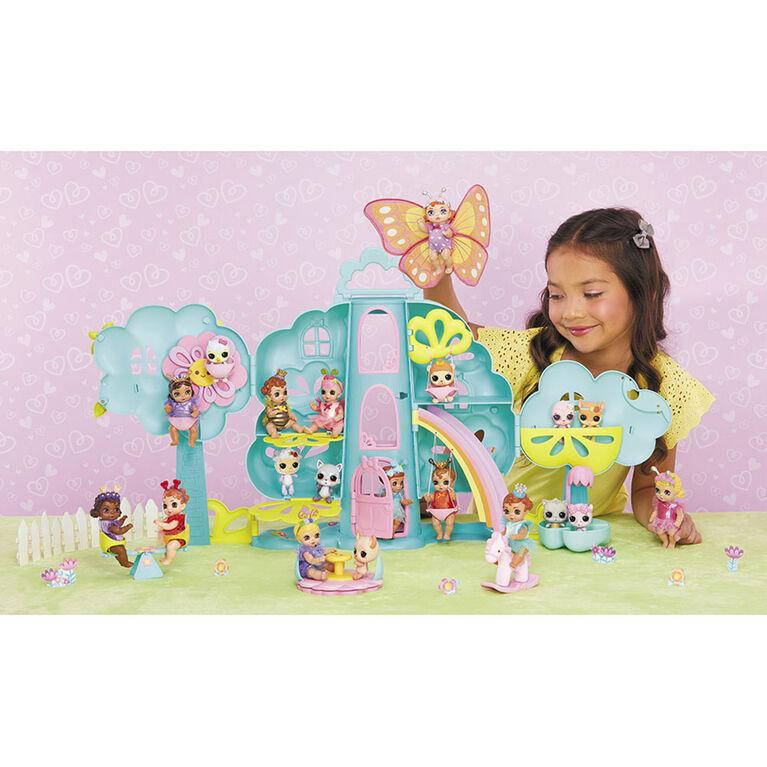 Jeu de maison dans un arbre BABY born Surprise avec plus de 20 surprises et poupée exclusive