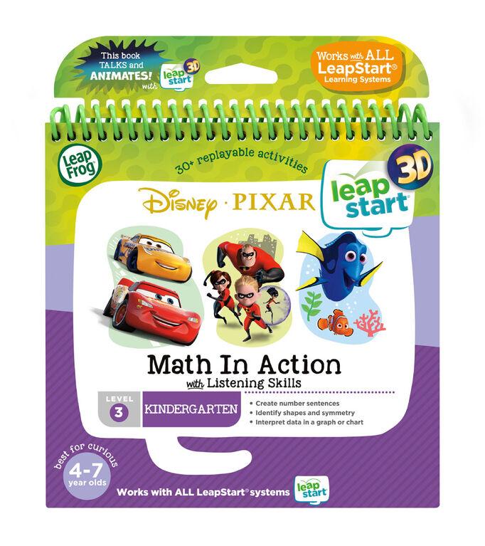 LeapFrog Livre d'activités Pixar Les mathématiques en action avec des compétences d'écoute de LeapStartMD 3D - Édition anglaise