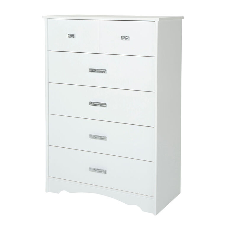Tiara Commode 5 tiroirs- Blanc solide