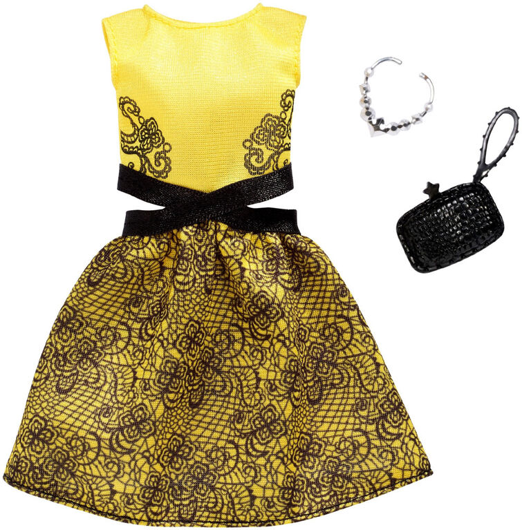 Barbie Fashions Pack, Yellow and Black Dress