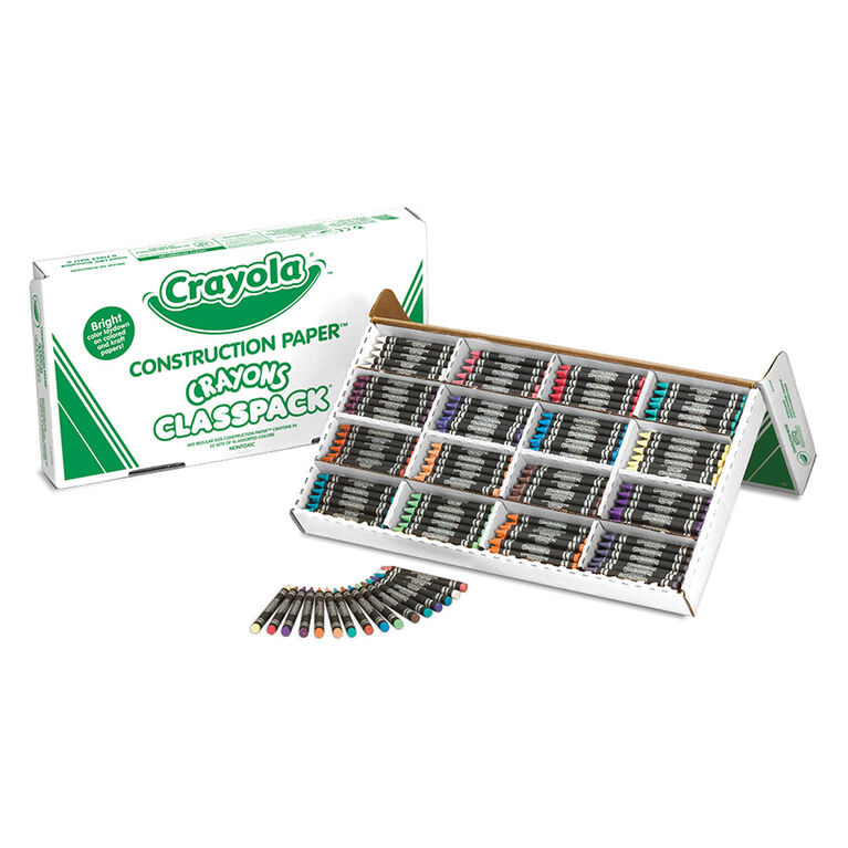 Crayola - 400 Construction Paper Crayons Classpack (16 Colours) - English Edition