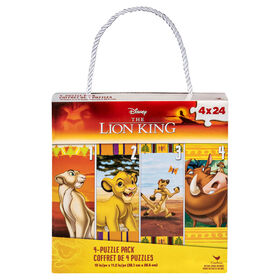 Disney Lion King 4-Pack of Puzzles