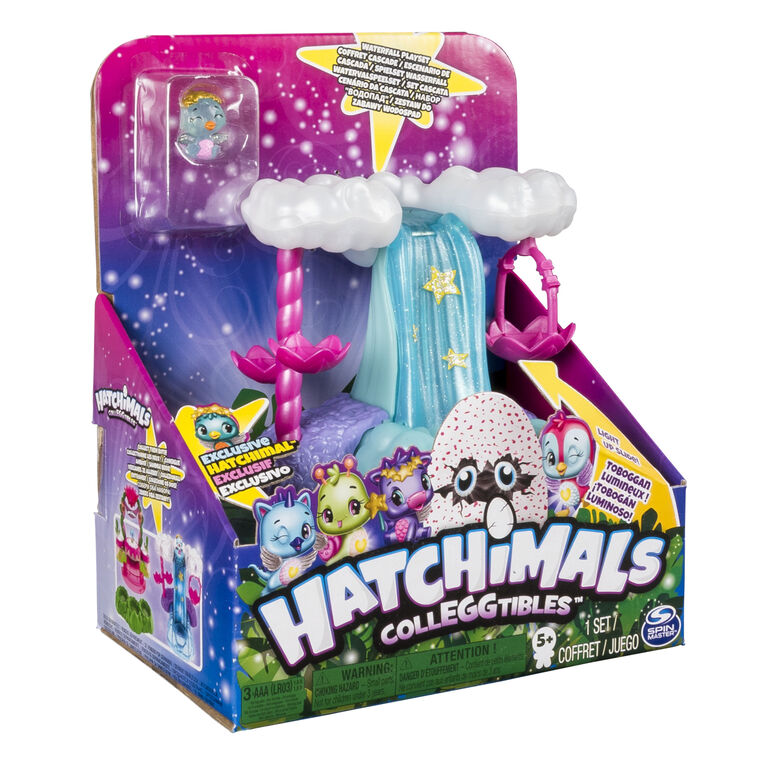 Hatchimals CollEGGtibles - Waterfall Playset with Lights and an Exclusive Season 4 Hatchimals CollEGGtible