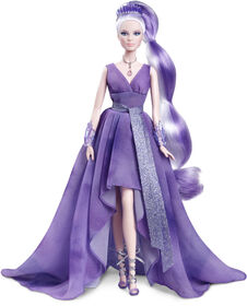 Poupée Barbie Améthyste Collection Cristal avec Collier à Véritable Améthyste