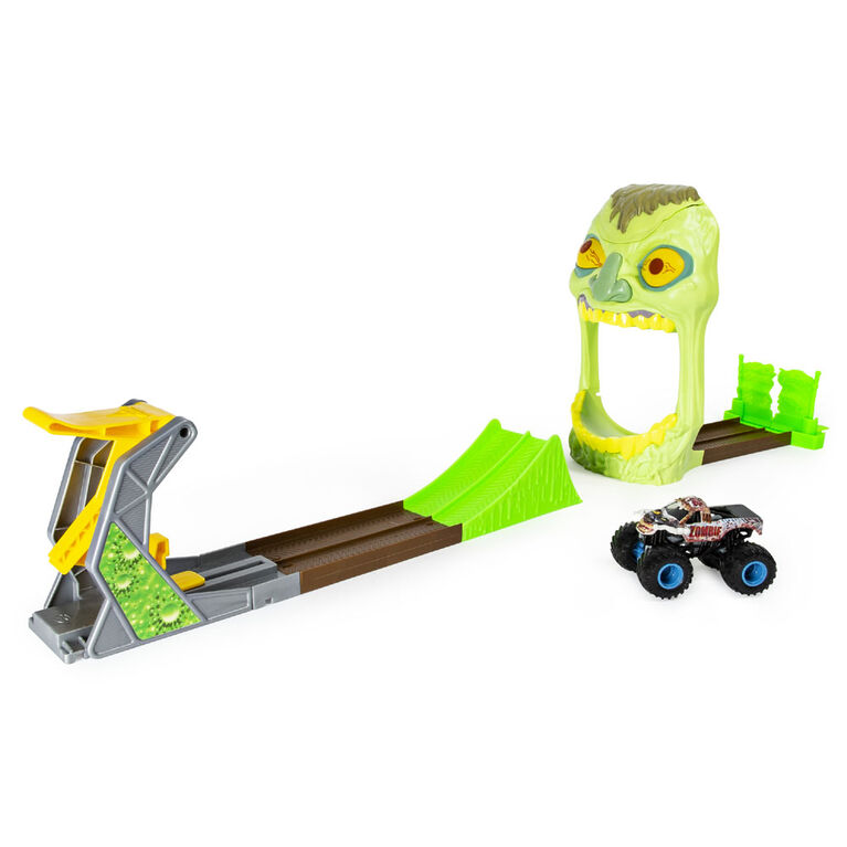 Monster Jam, Official Zombie Madness Playset Featuring Exclusive 1:64 Scale Zombie Monster Truck