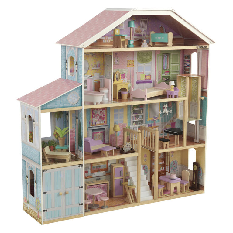 Grand View Mansion Dollhouse with EZ Kraft Assembly