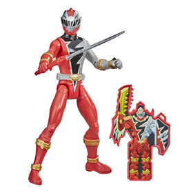 Power Rangers Dino Fury Red Ranger 6-Inch Action Figure Toy Inspired by TV Show with Dino Fury Key and Dino-Themed Accessory