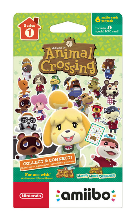 Animal Crossing amiibo cards 6-pack - Series