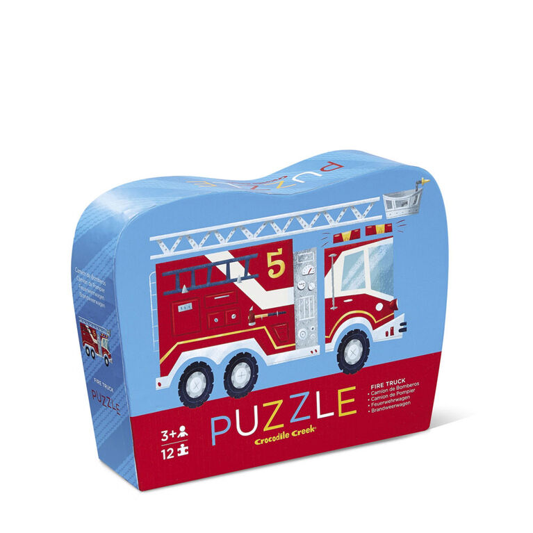 Crocodile Creek Fire Truck 12 - pc puzzle