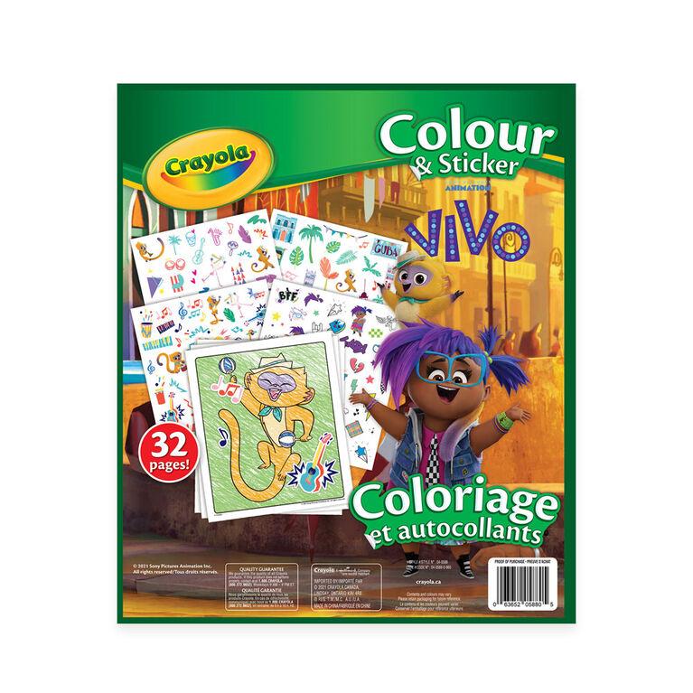 Livre à colorier et autocollants Crayola, Vivo