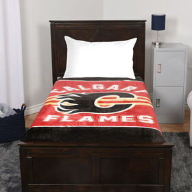 NHL Luxury Velour Blanket - Calgary Flames