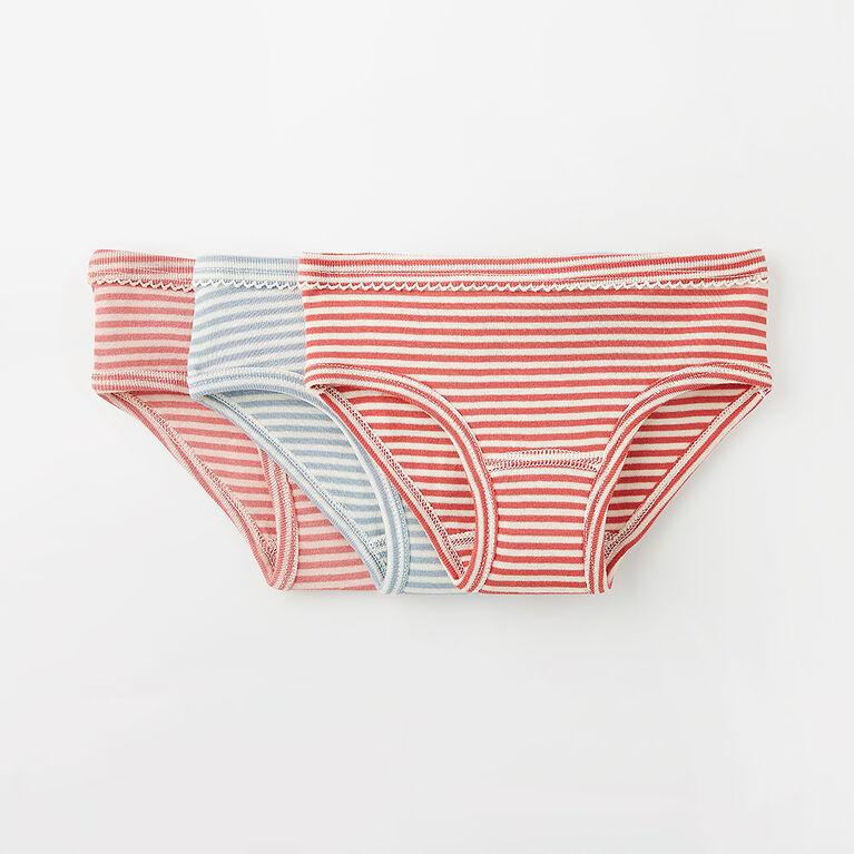 pretty simple cotton undies, 2-3y - blue
