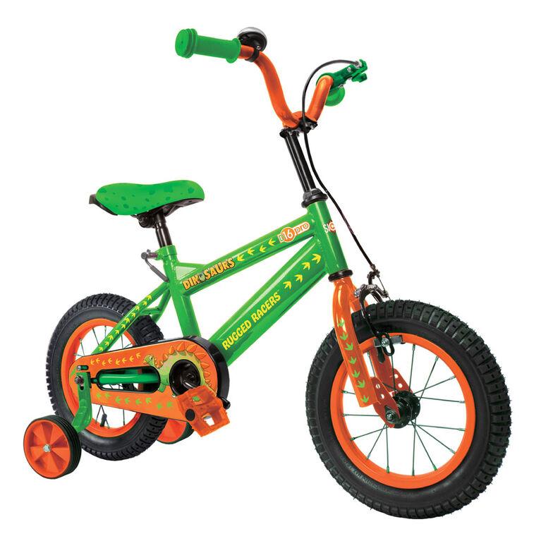 Rugged Racer 16 Inch Kids Bike with Training Wheels- Dinosaur - English Edition