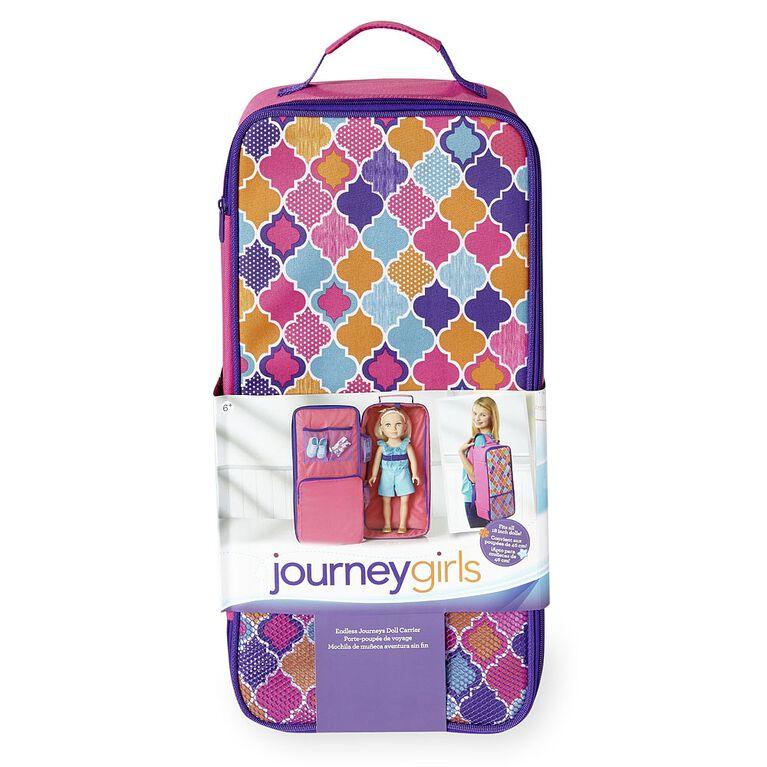 Journey Girls Endless Journeys Doll Carrier for 18-inch Doll - Quatrefoil Print