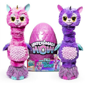 Hatchimals WOW, Llalacorn 32-Inch Tall Interactive Hatchimal with Re-Hatchable Egg (Styles May Vary)