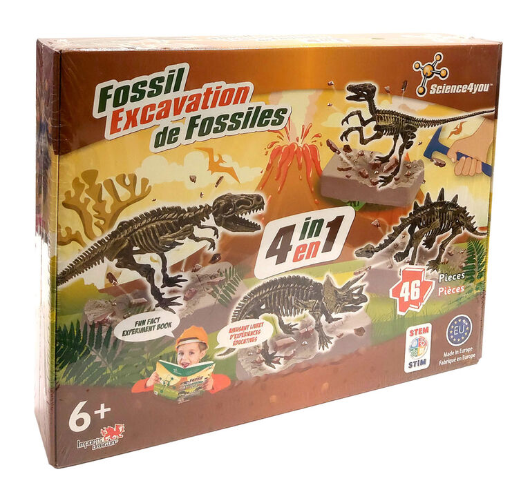 Science4You - Fossil Excavation (4 in 1)