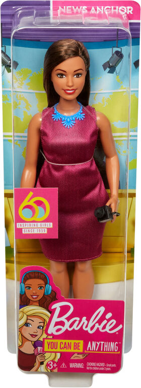 Barbie 60th Anniversary News Anchor Doll