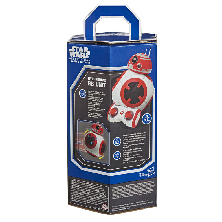 Star Wars Galaxy's Edge Hyperdrive BB Unit Remote-Controlled Interactive Droid Toy - R Exclusive