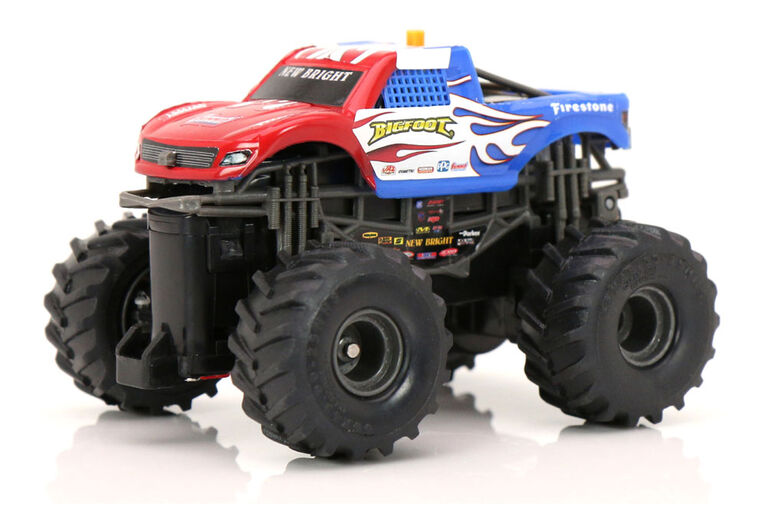 New Bright R/C-Hot Wheels-Bigfoot/Red-White-Blue/1:43