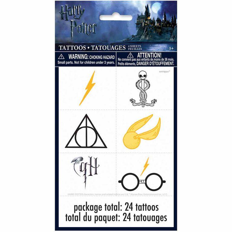 Harry Potter Feuilles de tatouage, 4un