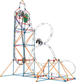 Looping Light-Up Roller Coaster Building Set
