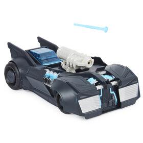 BATMAN, Véhicule transformable 2-en-1 Batmobile et Batbateau, à utiliser avec les figurines articulées BATMAN de 10cm - Le style peut varier