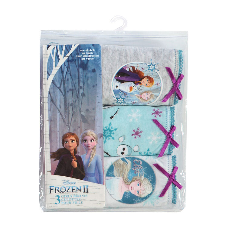 Disney Underwear Girls Knit 3 pk Frozen II - Size 2