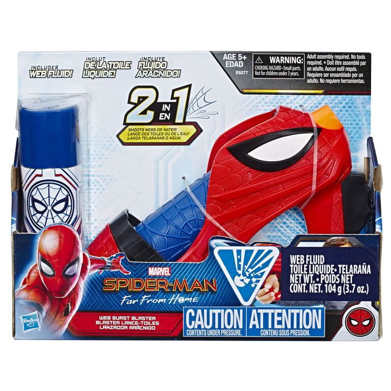 Spider-Man: Far From Home - Blaster lance-toiles jouet de Spider-Man avec toile liquide