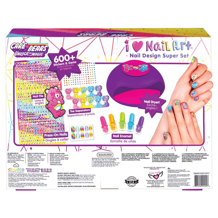 Care Bears I Heart Nail Art Kit