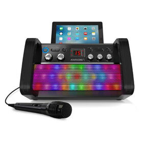 Bluetooth CD+G iKaraoke Disco Party Machine with Light Effects