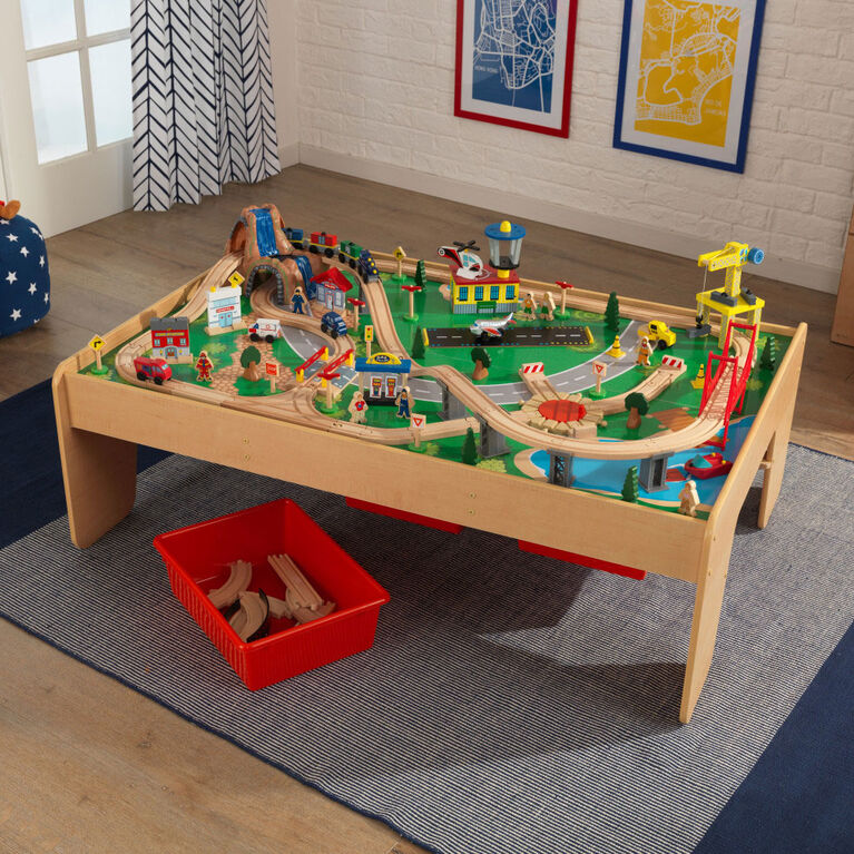 KidKraft - Ensemble Train et table en bois Montagne cascade