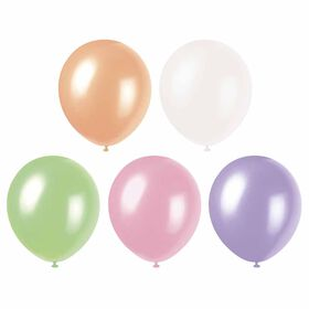 """12"""" Latex Balloons, 8 Pieces - Assorted Pastel"""