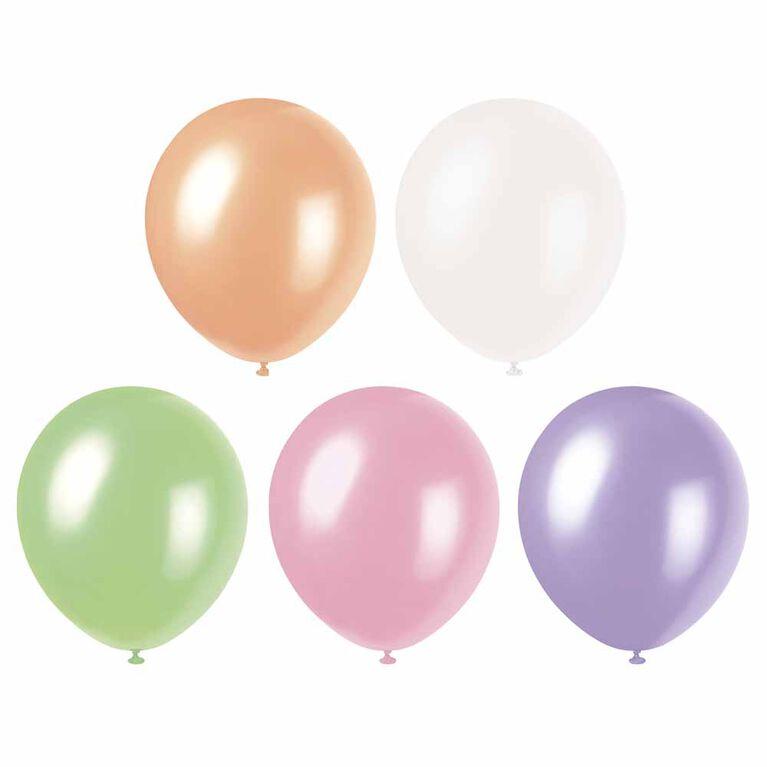 8 Ballons Nacres 12 Po - Pastel Asst.