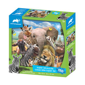 Animal Planet - Africa Selfie – 150 Piece 3D Puzzle - R Exclusive