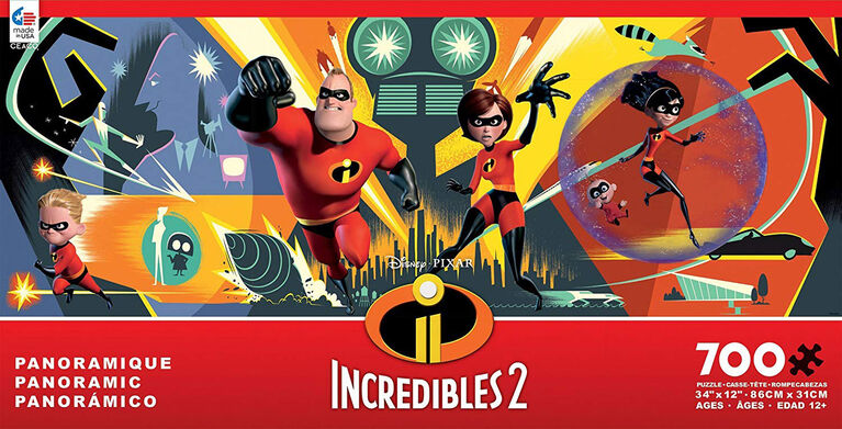 Ceaco: Incredibles 2 Disney Panoramic 2 Puzzle 700 Piece