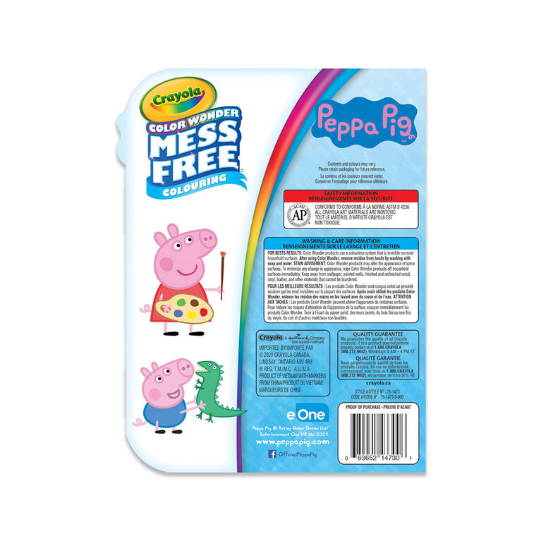 Crayola Color Wonder Mini Mess-Free Colour On-The-Go, Peppa Pig