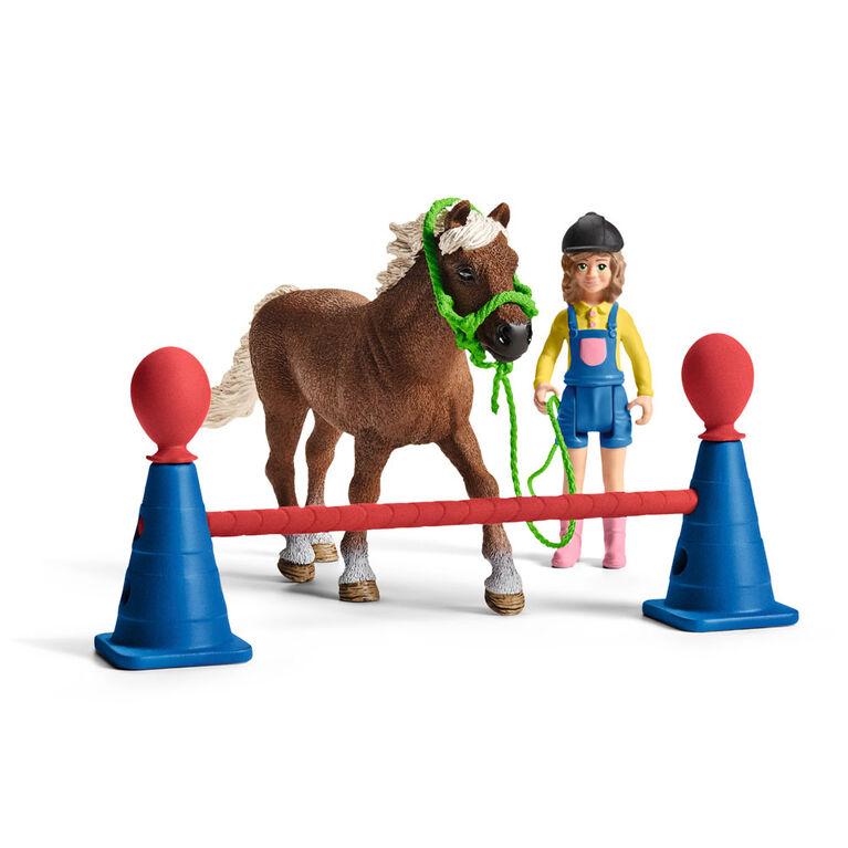 Entraînement d'agilité pour poney