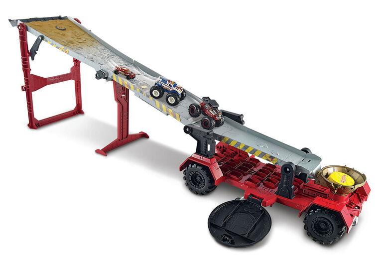 Hot Wheels - Monster Trucks - Coffret de jeu Course De Descente
