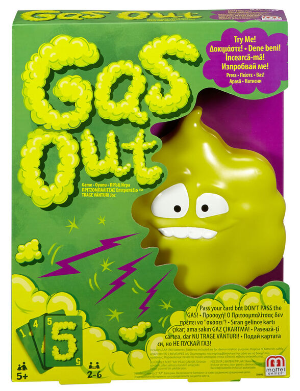 Gas Out Game - English Edition