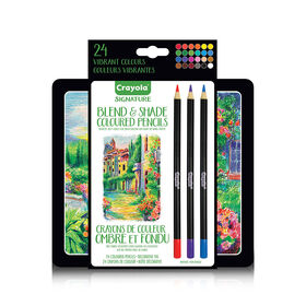 Crayola Signature Blend & Shade Coloured Pencils with Tin, 24 ct