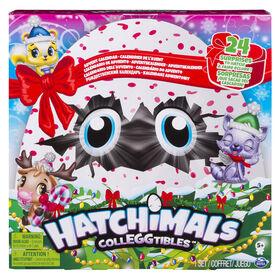 Hatchimals CollEGGtibles - Calendrier de l'avent avec personnages exclusifs et accessoires en papier