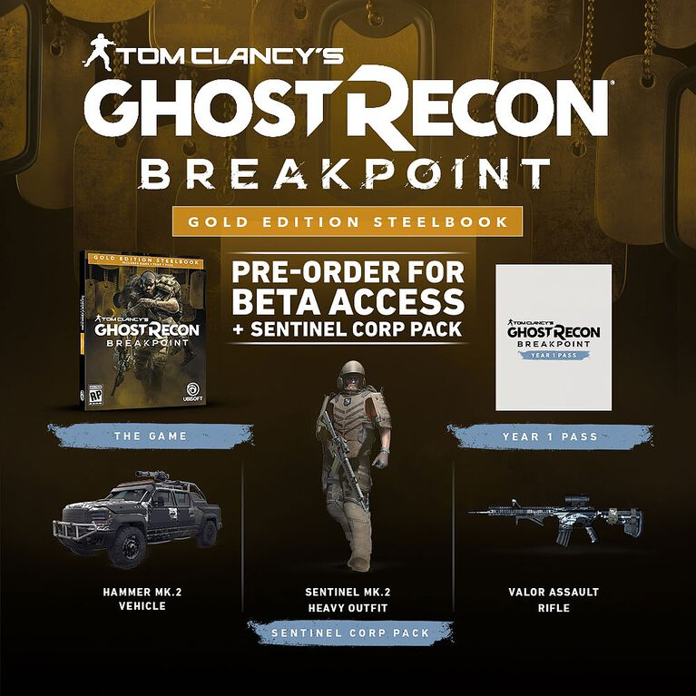 Tom Clancy's Ghost Recon Breakpoint Gold Steelbook Edition - Xbox One