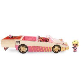 Coupé L.O.L. Surprise! Car-Pool avec poupée exclusive, piscine et piste de danse surprises - Édition anglaise