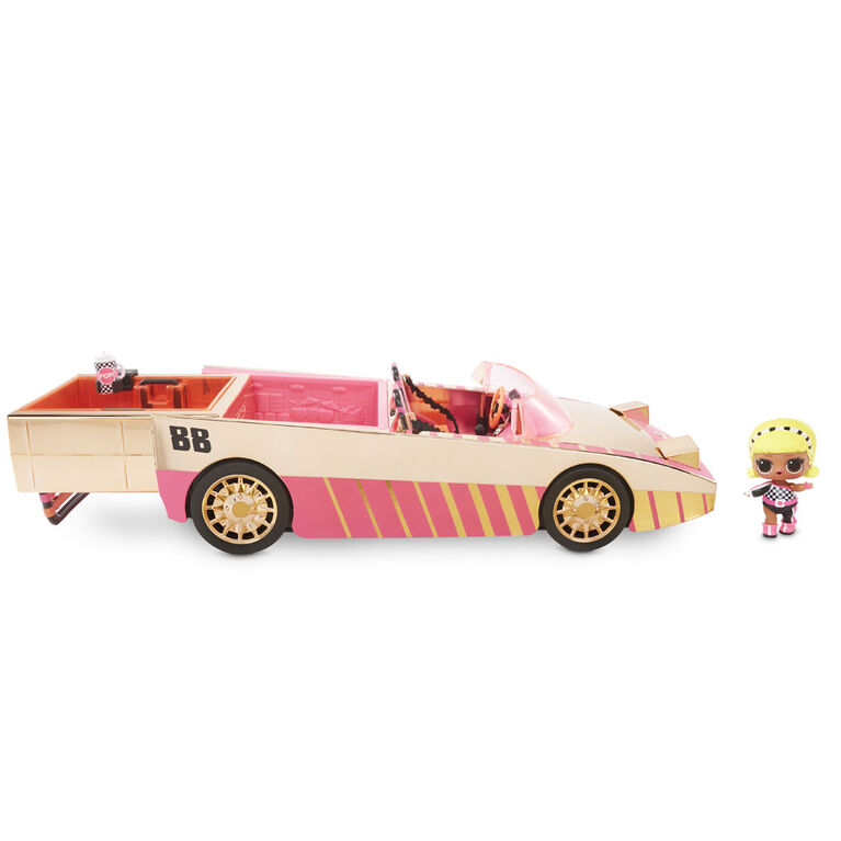 L.O.L. Surprise! Car-Pool Coupe with Exclusive Doll, Surprise Pool & Dance Floor - English Edition