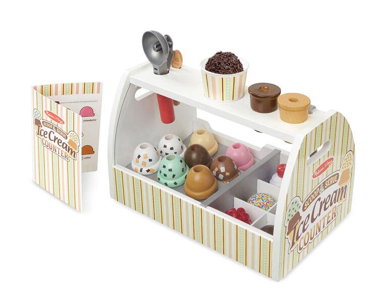 Melissa & Doug - Wooden Ice Cream Counter