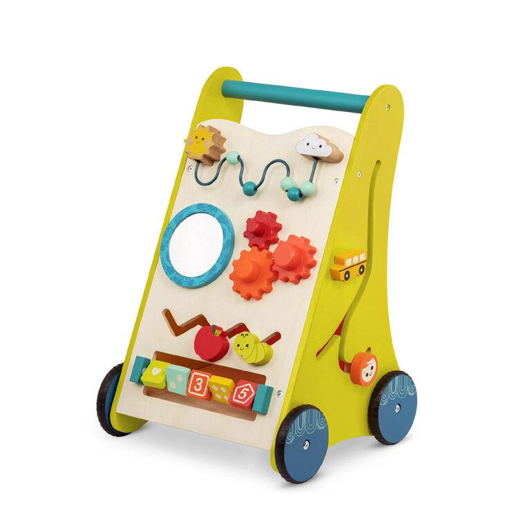 Trotteur en bois avec jeux, Marche et apprends, B. toys
